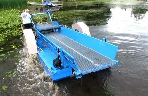Eco Cutter - Aquatic Weed Harvester Storage Bunk and Converyor Belt